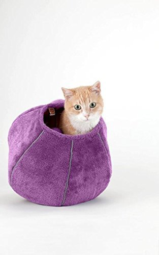 United Pets Kitty Cat Cozy Cave & Bed (Purple) by United Pets (Image #4)