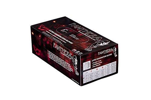 Panthera puderfrei Latex Untersuchungshandschuhe 100Tattoo Handschuhe, XS, schwarz
