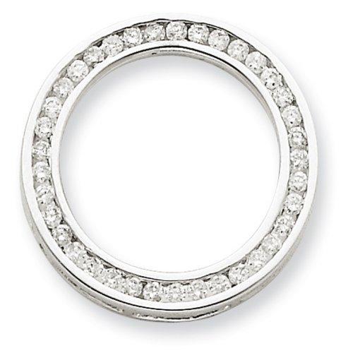 Icecarats Créatrice De Bijoux Or Blanc 14K Cercle Pendentif Diamant
