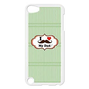 SpecialCasedesign Personalized Father's Day I Love My Dad Mustache Ipod Touch 5th Case Best Durable Back Cover Kimberly Kurzendoerfer