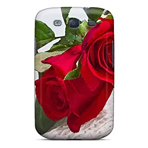 Top Quality Rugged Beautiful Flowers Rose Pictures And All Send Case Cover For Galaxy S3