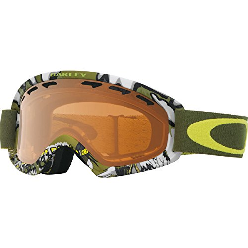 Oakley O-Frame 2.0 XS Snow Goggles, Shady Trees Army Green Frame, Persimmon Lens, - Oakley Goggles Snow