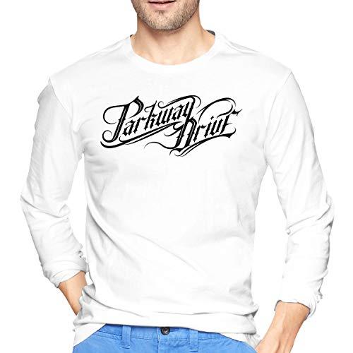 (Gaoyanh Men's Parkway Drive Soft Long Sleeve T-Shirt White XL)