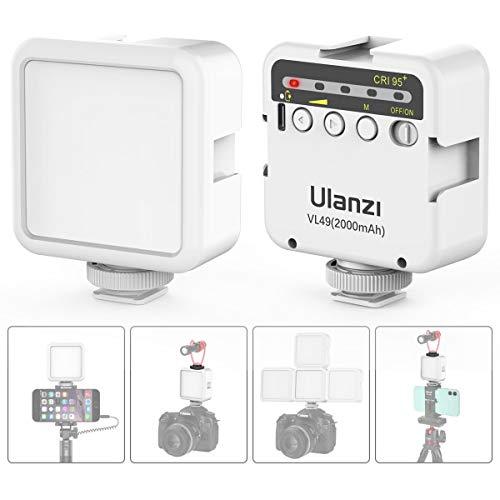 VIJIM on Camera Light 49 LED Video Light, Mini LED Panel w Built-in 2000mAh Li-ion Battery for Canon, Nikon, Samsung…