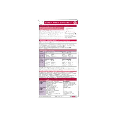 Diabetes mellitus pocketcard Set