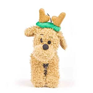 Outward Hound Kyjen  PP01890 Singing Dog We Wish You a Merry Christmas Dog Toy, Small, Brown with Green