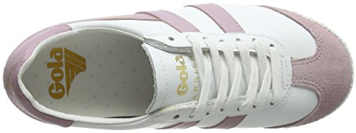Bianco 50 Pnk Donna Harrier Leather Gola Pastel Pastel Wk White White Pnk Sneaker 58S0q