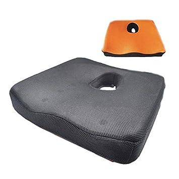 Cojín de asiento de silla de ruedas Reductor de presión, Cojín antiescaras, Ideal para Estar Sentado por un Tiempo prolongado, Ventilación estéreo 3D, ...