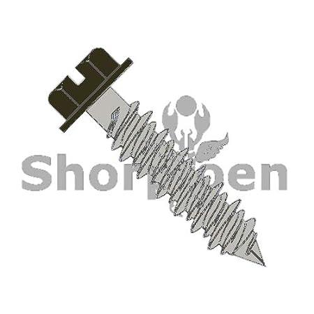 20, 1//4 x 1-3//4 Bronze SHORPIOEN Slotted Hex Washer Concrete Screw