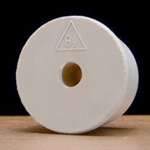Drilled #9.5 Rubber Stopper - 10-Pack by BSG HandCraft (Image #1)
