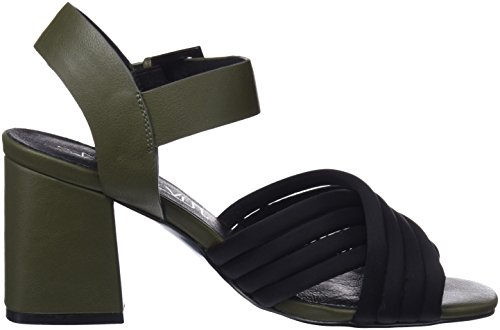 Napy Ankle Black Berit Kaky neoprene Sixtyseven Sandals Mulicoloured Women's Strap qPwvZU6