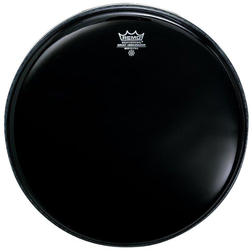 Remo ES001000 Ebony Ambassador Drum Head, 10-Inch (Black Multi Tom)