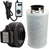 Powermaxx Premium Charcoal Carbon Filter and Inline Fan Combo with Speed Controller (4 IN)