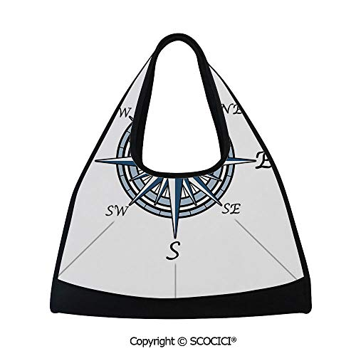 (Table tennis bag,Sea Color Themed Voyage Windrose Discovery Marine Design Work of Art Decorative,Bag for Women and Men(18.5x6.7x20 in) Blue Light Blue)