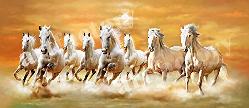 Art Factory Feng Shui Eight Horse Canvas Painting Buy