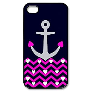 [QiongMai Phone Case] For Iphone 4 4S case cover -Vintage Retro Anchor Pattern-IKAI0448257