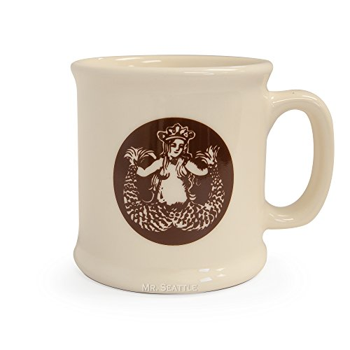 Starbucks Pike Quarter Ceramic Mug, White, 14 fl oz