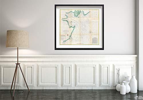 1857 U.S. Coast Survey Antique or Chart of St. Helena Sound, South Carolina Map Vintage Fine Art Reproduction Size: 22x24 Ready to Frame (South Pottery Carolina Barn)
