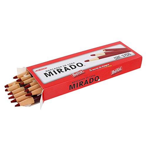 Mirado Peel Off China Markers, Red, Dozen - 19409 Photo #2