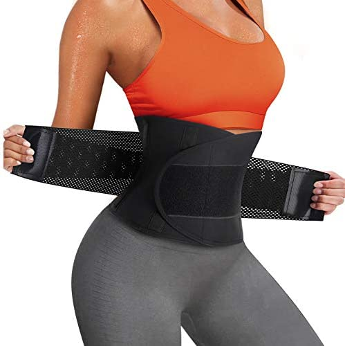 Scarboro Women Sweat Waist Trimmer Sauna Waist Trainer Belt Abdomen Slimming Body Shaper Sports Girdles Workout Belly Band Belt