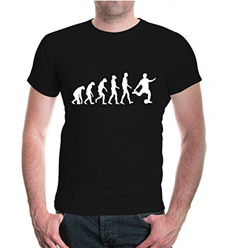 buXsbaum T-Shirt The Evolution of - Soccer Tshirts For Men