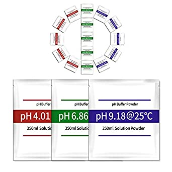 41cXz2c5H2L._SX342_ 15 pack ph meter buffer solution powder, easy and accurate, make ph