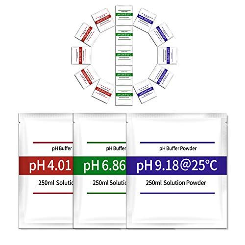 - 15-Pack pH Meter Buffer Solution Powder, Easy and Accurate, Make pH Calibration Solution 4.01, 6.86, and 9.18