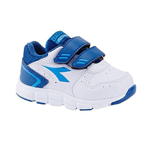 Diadora - Zapatillas de Material Sintético para niño C0718 BIANCO/BLU