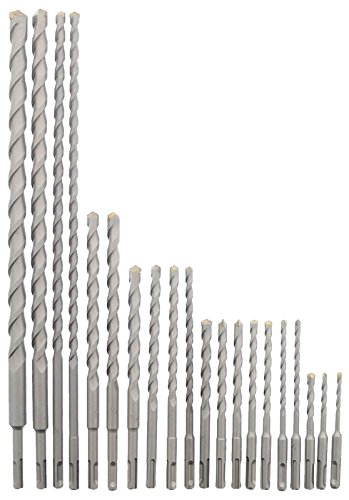 Erie Tools 20 Piece SDS Rotary Hammer Concrete Masonry Carbide Tipped Drill Bit Set fit Milwaukee Hilti Bosch