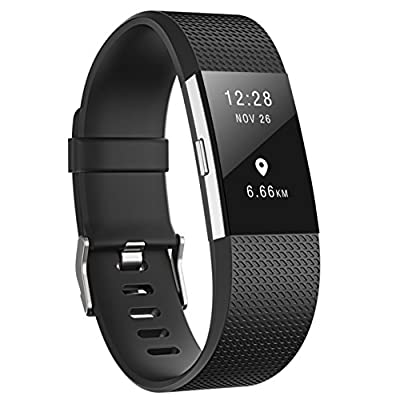 For Fitbit Charge 2 Bands,CreateGreat Silicone Replacement Accessory Strap For Fitbit Charge 2