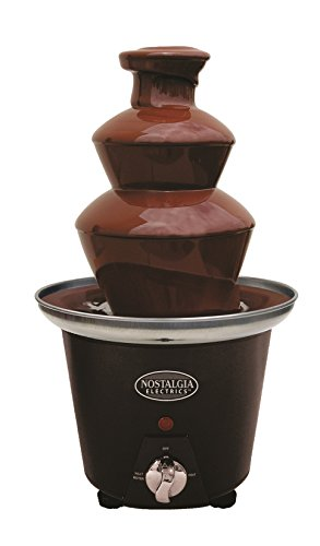 Nostalgia CFF965 3-Tier 1 1/2-Pound Capacity Chocolate Fondue Fountain