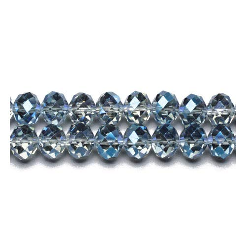 90+ Blue/Grey Czech Crystal Glass 3 x 4mm Faceted Rondelle Beads GC9597-1 (Charming ()