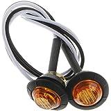 [マローサム] バイク 人目を 惹き付ける ハンドル グリップ バー エンド ウインカー 防水 LED 発光 12V 2個セット オレンジ