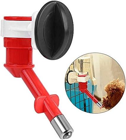Smandy Dispensador de Agua para Mascotas Boquilla Antifugas Perros automáticos Gatos Conejo Alimentador de Agua Boquilla No-Goteo Dispensador de Agua Fuente Botella Cabezal de Agua Boquilla (Rojo)