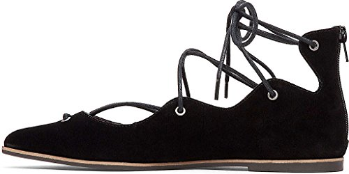 Lucky Brand Womens Billoh Pointed Toe Ballet Flats Black rSFys