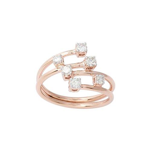 Flexible Diamond Band 6 Stone (rose-gold, 7.5) (Flexible Diamond Band)