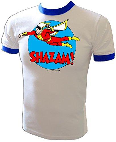 - Vintage 1976 DC Comics Original Captain Marvel Shazam Mego Style t-shirt, large