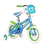 Kawasaki Monocoque Kid's Bike, 12 inch Wheels, 8 inch Frame, Girl's Bike, Blue