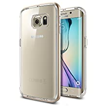 Spigen Neo Hybrid CC Galaxy S6 Edge Case with 1 Back Protector / Flexible Clear Case and Hard Bumper Frame for Samsung Galaxy S6 Edge 2015 - Champagne Gold