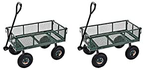 "Sandusky Lee CW3418 Muscle Carts Steel Utility Garden Wagon, 400 lb. Load Capacity, 21-3/4"" Height x 34"" Length x 18"" Width (Pack of 2)"
