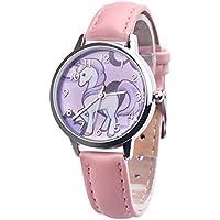 New Fashion Womens Watch Girls Casual Cute Unicorn Leather Band Quartz Wrist Watches