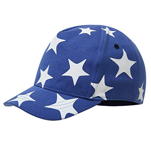 (vivobiniya Newborn Boy Summer Hats Baby Sun Hats Little Bear Baseball Cap 0-4y (2-4Years Old, Blue(Star)))