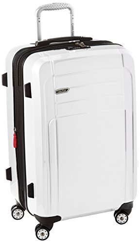 Calvin Klein Rome 25 Inch Upright Suitcase, White, One Size by Calvin Klein