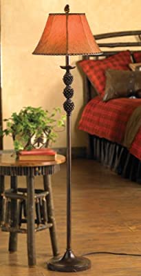 BLACK FOREST DECOR Pinegrove Floor Lamp - Rustic Lighting Fixtures
