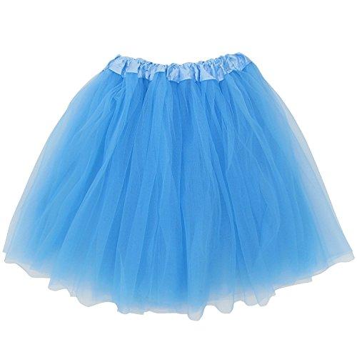 So Sydney Plus Size Adult Tutu-Princess Costume Ballet Warrior Dash 5K Run Running Skirt (Light Blue),Plus Size -