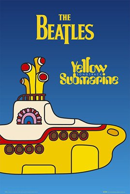 The Beatles Yellow Submarine Cover Poster Rolled 24 x 36  PS