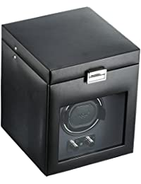 270302 Heritage Single Watch Winder with Cover and Storage, Black
