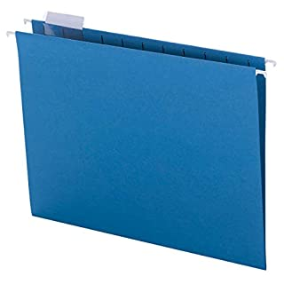 Smead Colored Hanging File Folder with Tab, 1/5-Cut Adjustable Tab, Letter Size, Sky Blue, 25 per Box (64068) (B0006VS082) | Amazon price tracker / tracking, Amazon price history charts, Amazon price watches, Amazon price drop alerts
