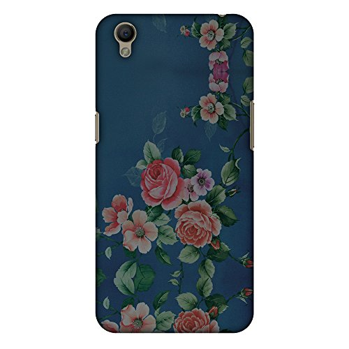 AMZER Slim Fit Handcrafted Designer Printed Hard Shell Case Back Cover for Oppo A37 - Rose Print Provencal