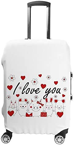 スーツケースカバー トラベルケース 荷物カバー 弾性素材 傷を防ぐ ほこりや汚れを防ぐ 個性 出張 男性と女性かわいい動物